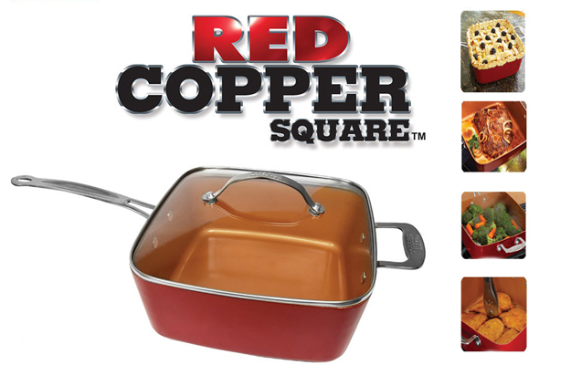 Red Copper Chef Pan