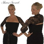 Set van 6 Sheer secret + SS Black lace sleeves