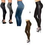 Jegging Pack of 3 + Jeggings Leather Look Pack of