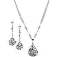 Rhodium Ornament - Swarovski Elements