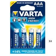 Super Flashlight Pack of 2 + Pack 4 Batterijs AAA