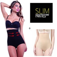 Slim Panties 360° Black + Nude Pack of 2